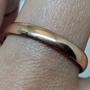 Jewelry - Vintage Mens Solid Copper Band Ring Size 12